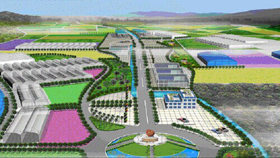 """项目地址:清溪镇铁场村。 项目规模:规划总面积3800亩,计划总投资11530万元。 项目定位:以花卉为特色产业,以鲜切花和有机果蔬为主导产品,打造成创汇型、环保型的现代农业园区。 项目概况:位于清溪镇铁场村,园区已完成基础设施建设,承包园区土地的10家入园企业已投入运营,投入运营面积达3000亩。整个产业园划分为""""六区一带"""",即:特色花卉产业区、优质水果生产区、优质蔬菜生产区、优质水产生产区、科普与综合服务区、生态风景林区以及生态农业旅游观光带。项目建设分二期进行。第一期重点进行"""